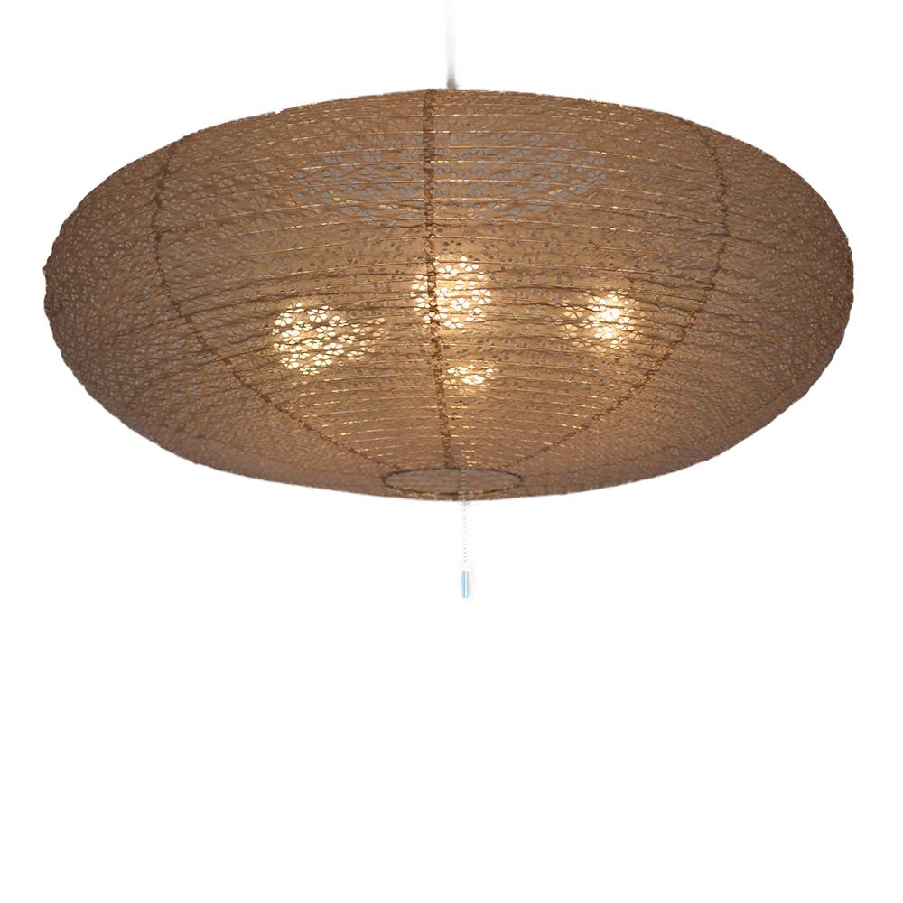 日本製和紙照明 4灯 ペンダントライト SPN4-1071 island 電球別売 小梅茶