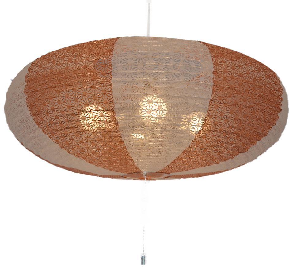 日本製和紙照明 4灯ペンダントライト SPN4-1071 island 電球別売 麻葉白×麻葉煉瓦