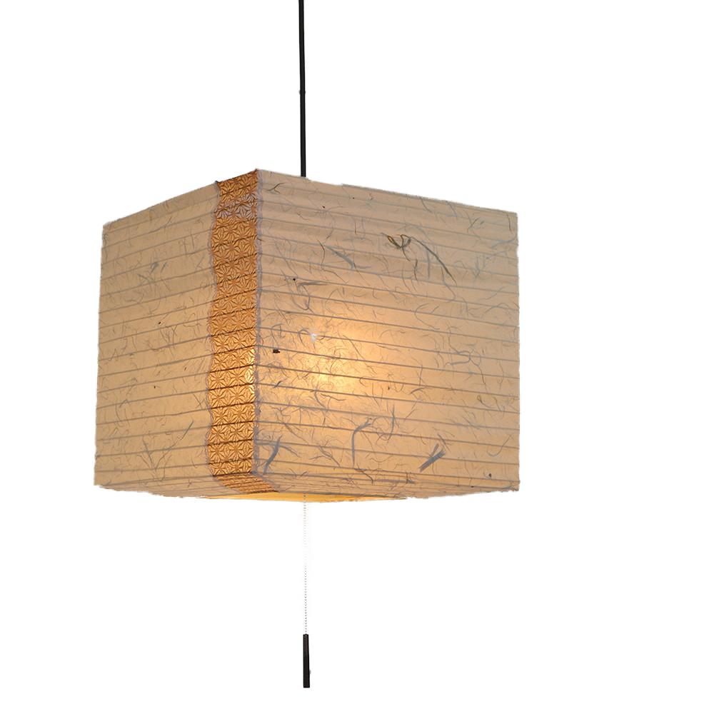 和風照明 2灯 ペンダントライト SPN2-1112 cube 電球別売 黒雲龍×麻葉唐茶