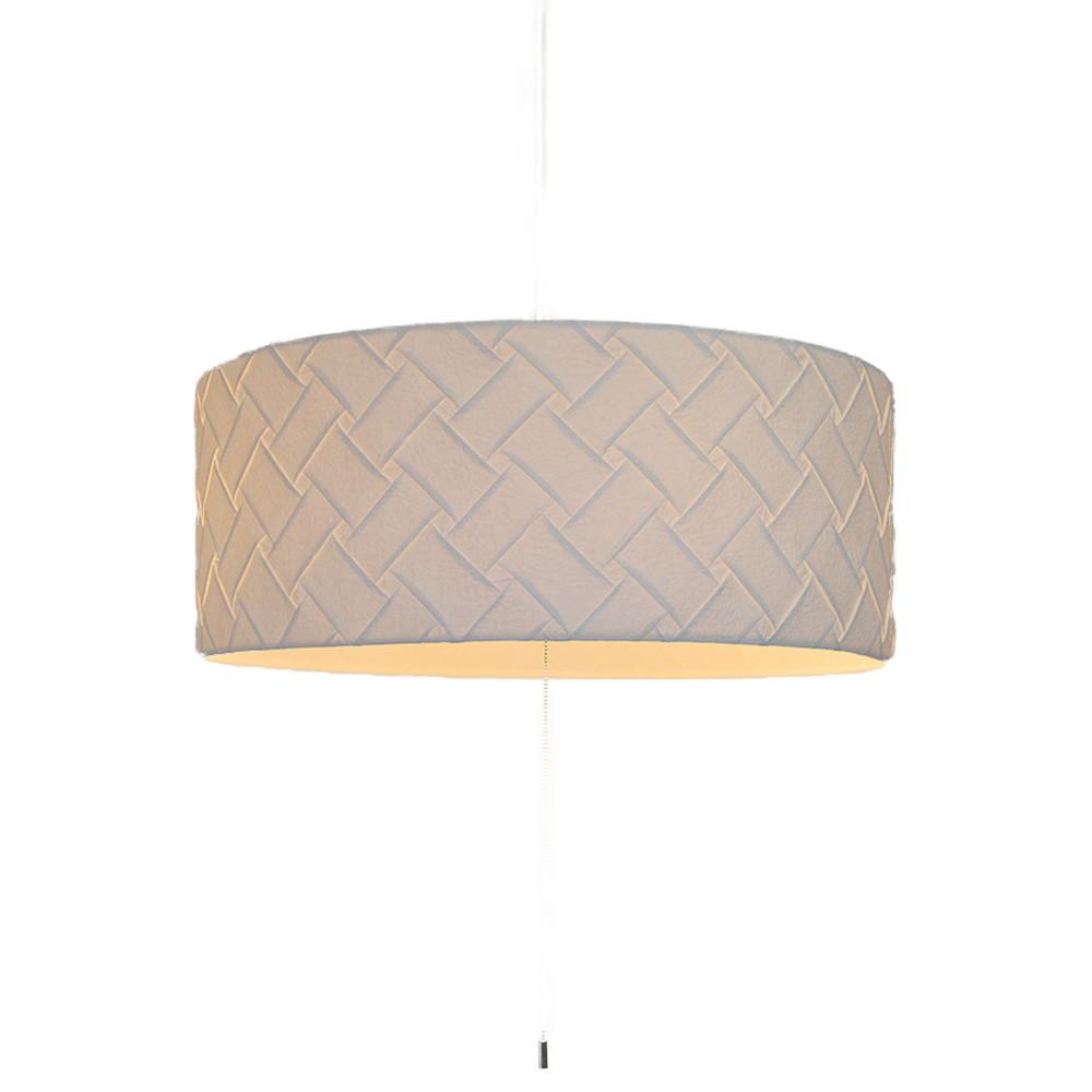 日本製 和紙照明 3灯 ペンダントライト VPN3-1080 電球別売 織姫WH