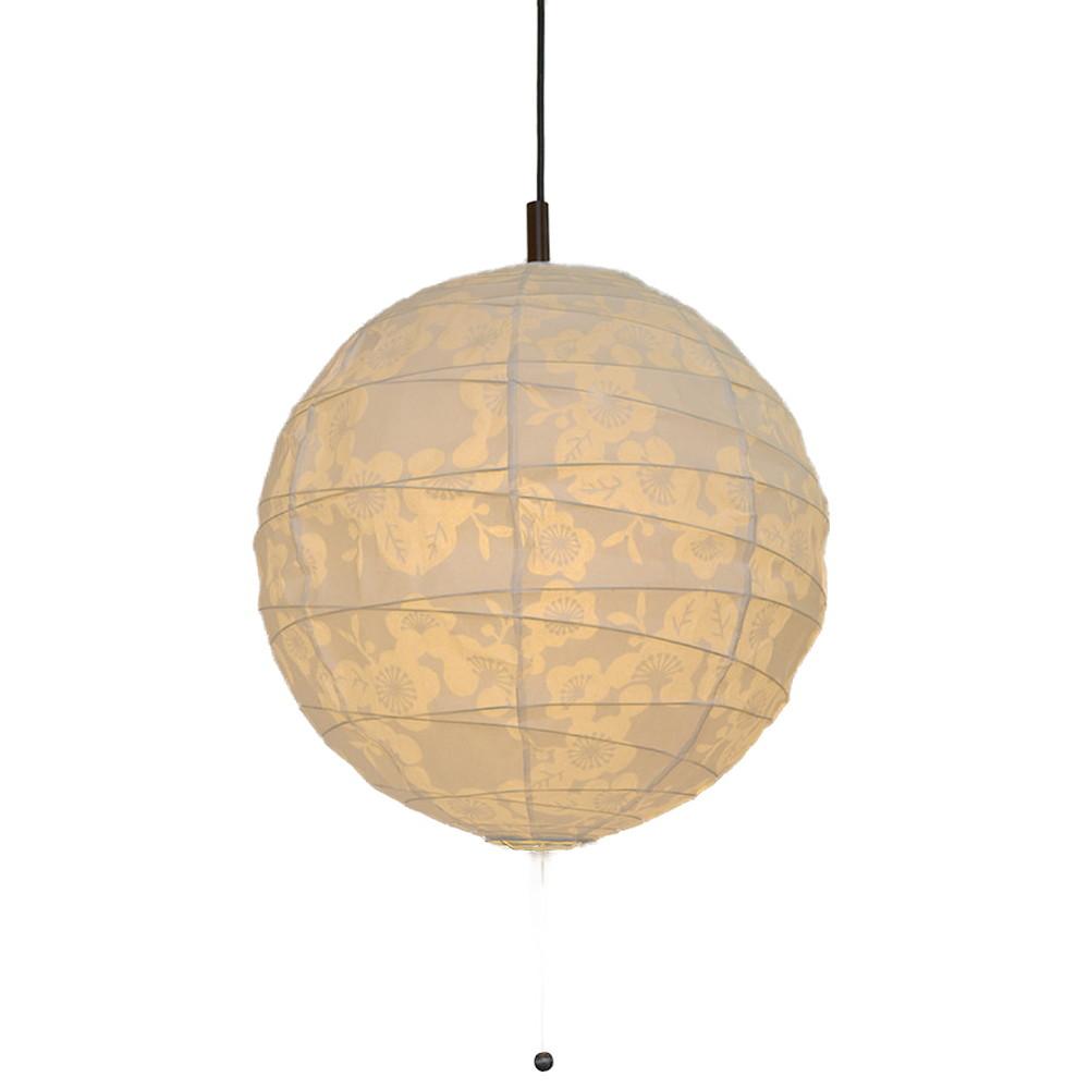 日本製 和紙照明 2灯ペンダントライト PN-45 cross 電球別売 透かし梅