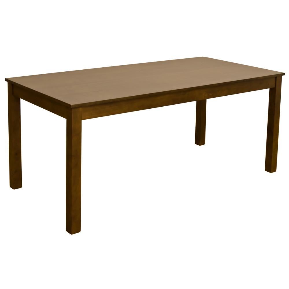 ダイニングテーブル 165x80cm ダークブラウン