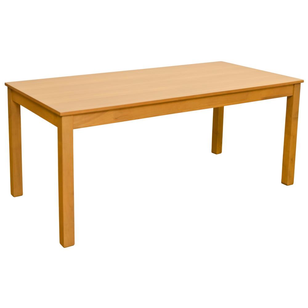 ダイニングテーブル 165x80cm ライトブラウン