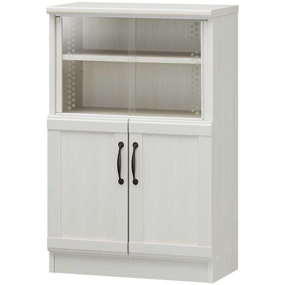 チェローネ 食器棚 カップボード 白木目 ホワイト キッチン