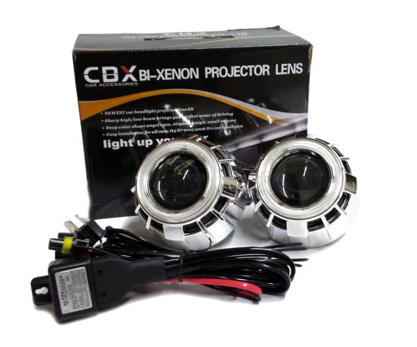 CCFLダブルイカリング バイキセノン Hi/Loプロジェクター/エンジェルアイ6000kHID搭載ヘッドライト加工用魚眼/青白ブルーホワイト