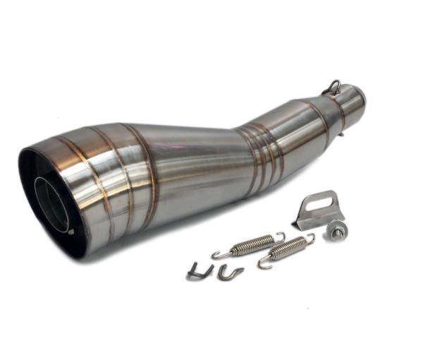 汎用50.8mm GPサイレンサー ショート管 GSX400 GSX600ストファイGSX1300隼ハス切り モトGP/スリップオン マフラー