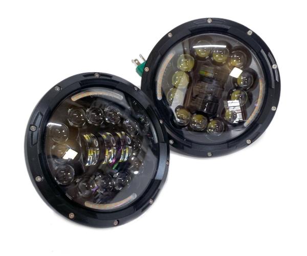 LED7インチ フルLEDプロジェクターヘッドライト ウィンカー機能付き 2個セット バルカン ラングラー パジェロ ランクル40系60系70系