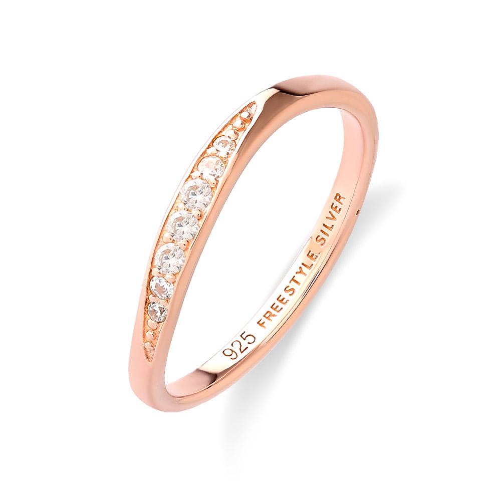 リング中央をひねらせた様なデザインが特徴のレディース10Kピンクゴールドリング ダイヤモンドとジルコニアをセットし上品な仕上がりになっております FREE STYLE ギフト 公式サイト 10Kピンクゴールド ゴールド レディースリング レディースアクセサリー レディース 送料無料 リング 指輪 お買い得 ダイヤモンド シンプル フリースタイル プレゼント 記念日 FSR928PG-10K