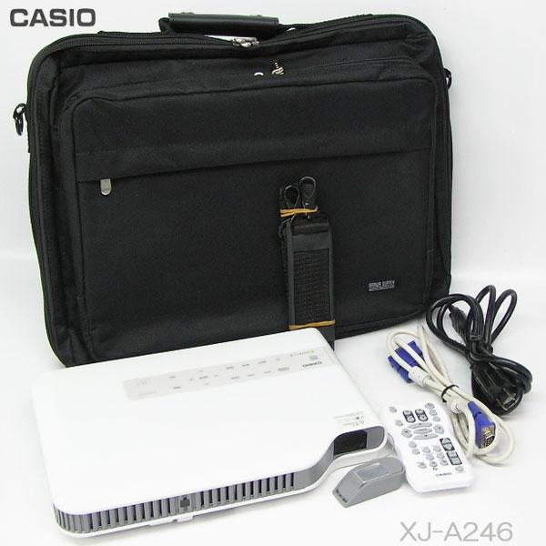 □■□本体(ライト)使用時間 56h CASIO XJ-A246 【中古】2500lm LEDプロジェクター 推奨品リモコン付、HDMI使用OK、 即使用可能!※ゆったりバッグで付属品もラクラク収納!