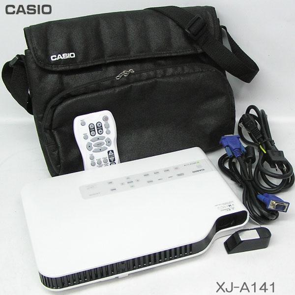 □■□使用時間 35h/カシオ/CASIO 【XJ-A141】推奨品HDMI対応 2500lm LEDプロジェクター【中古】初期化・クリーニング済、バッグ・リモコン付/即使用可能 !