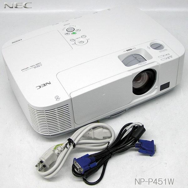 □■□美品/ランプ使用時間 2500h【中古】NEC 4500lm HDMI対応 プロジェクター【NP-P451WJL】推奨品無線LAN内蔵、即使用可能