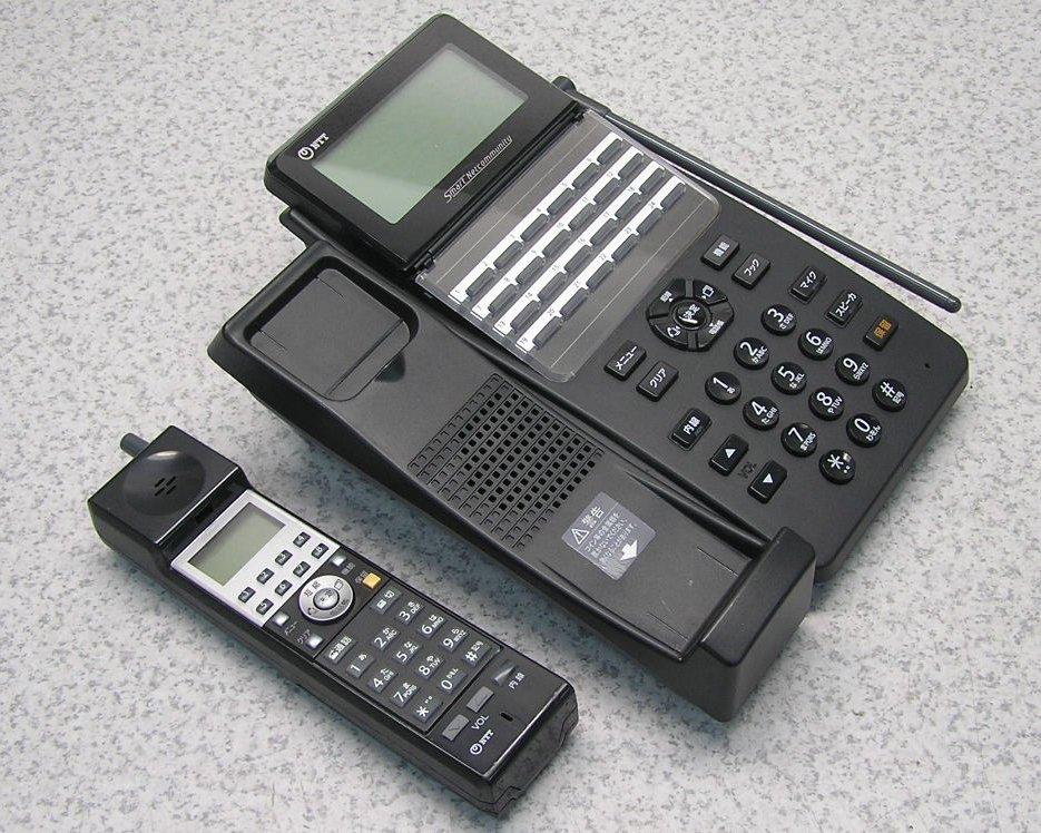 ■NTT αA1シリーズ 24ボタン カールコードレス電話機 正規店 A1- 24 新作からSALEアイテム等お得な商品満載 CCLSTEL- 送料無料 K 2019年製 中古 動作良好 1 美品