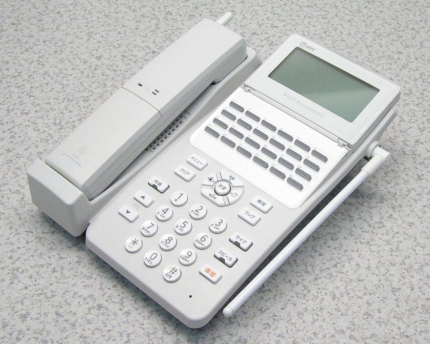 爆売りセール開催中 ■NTT αA1シリーズ 24ボタン 大注目 カールコードレス電話機 A1- 24 CCLSTEL- 中古 動作良好 1 W 美品 送料無料