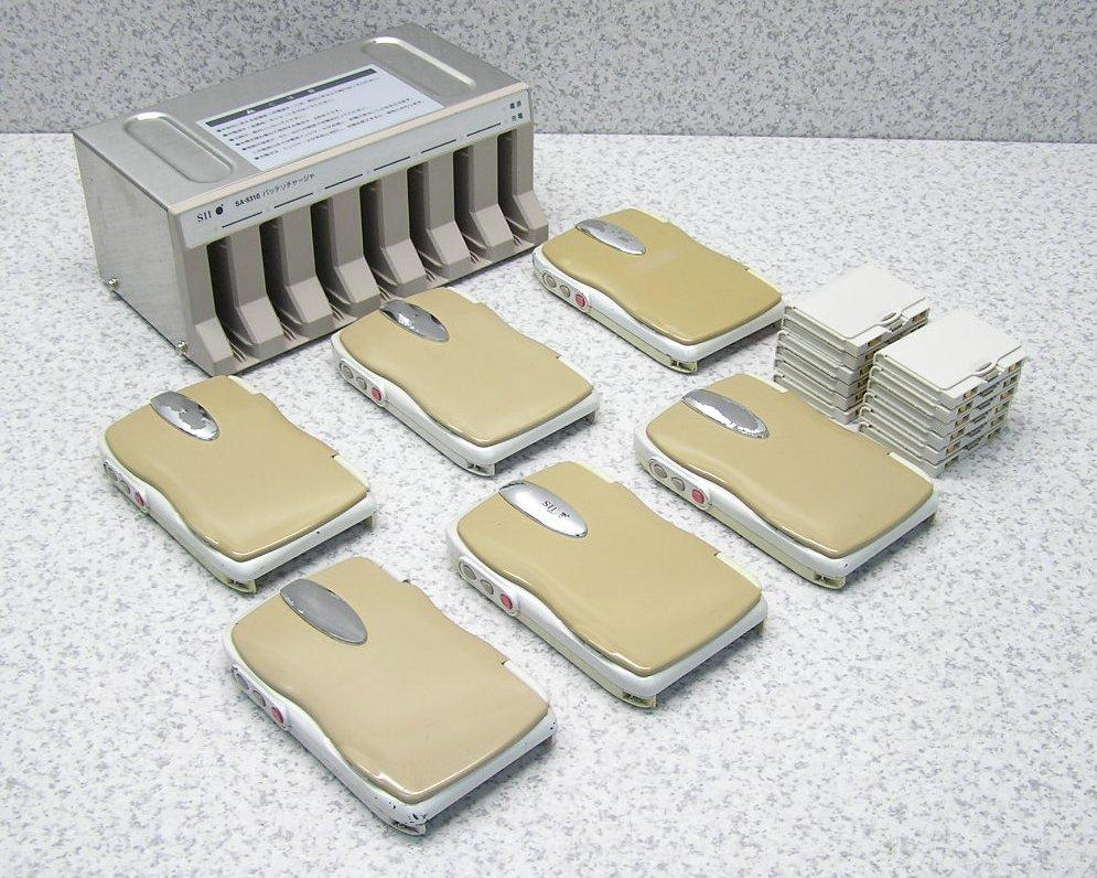 □■SII/エスアイアイ(セイコー) ハンディターミナル SA-4310×6台+充電器 SA-5310 バッテリー12個付き 【中古】
