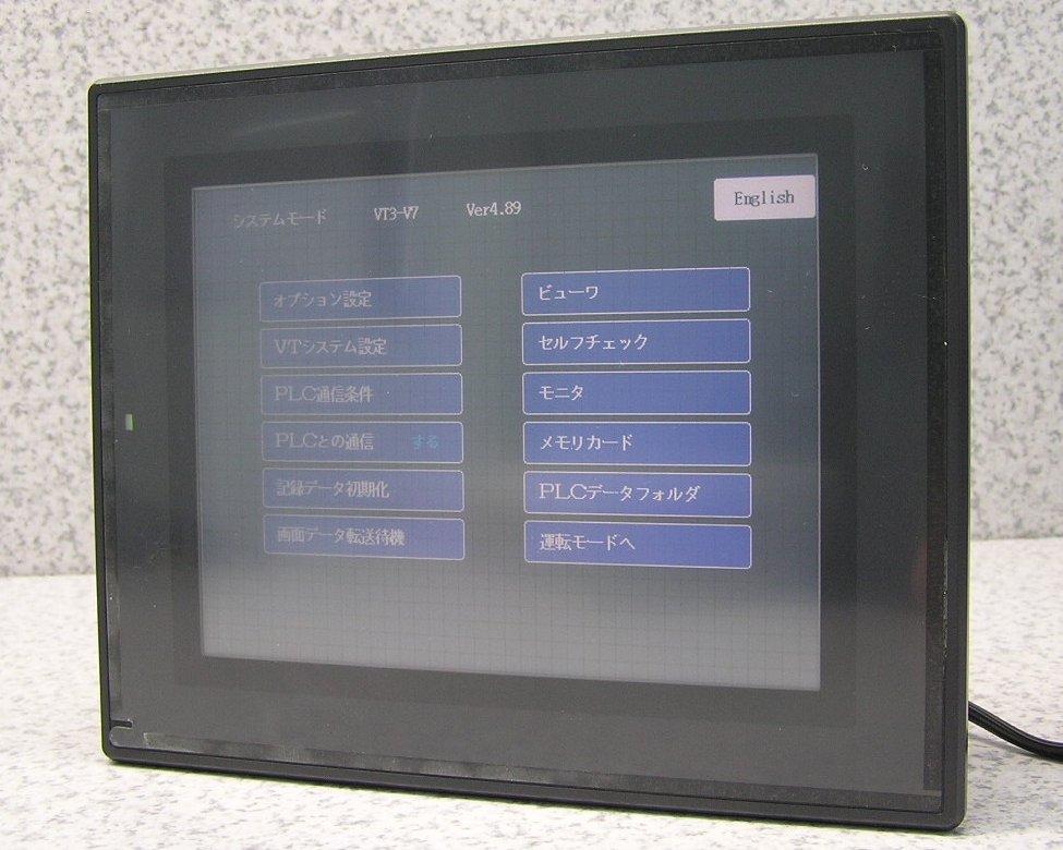 □■KEYENCE/キーエンス VT3シリーズ VT3-V7 7型 SVGA TFTカラー タッチパネルディスプレイ 動作確認・初期化済み 【中古】