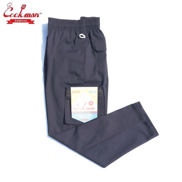 COOKMAN クックマン 品質検査済 Chef 新作販売 Cargo Ripstop シェフカーゴパンツ Pants Navy
