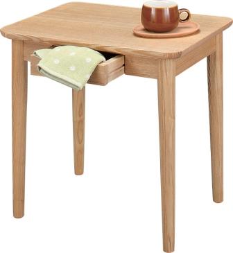 サイドテーブル 引出付モタナチュラル・ブラウンサイズ W50×D40×H49カフェテーブル
