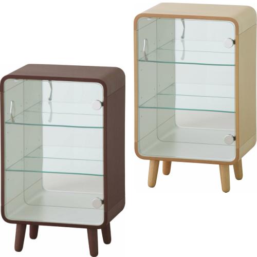 コレクションケース 3段タイプ天然木 木製 収納棚 ナチュラル ブラウンコレクション棚 コレクター ディスプレイ 小物置き ラック ナチュラルテイスト