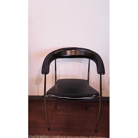 [中古]★モデルルーム展示品★【ROCKSTONE】ロックストーンArm chairアームチェアブラックKABUTO