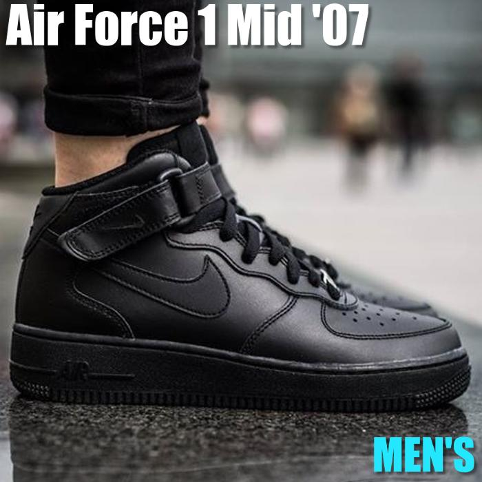 Nike Air Force One Mid Nike Air Force One mid 315,123 001 men's sneakers running shoes