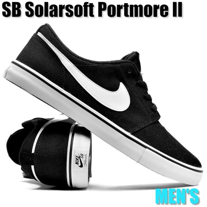 Nike SB Solarsoft Portmore II Canvas ナイキ SB ソーラーソフト ポートモア II キャンバス 880268-010 メンズ スニーカー ランニングシューズ