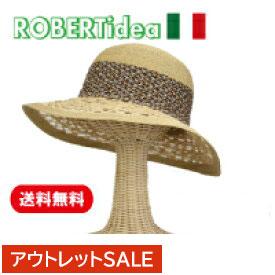 イタリアで1990年に設立された帽子アトリエ ハット レディース ブレード ブレードハット つば広 つば広ハット 女優帽 麦わら 麦わら帽子 帽子 春 春夏 イタリア製 ロベルトイデア 56cm あす楽 あす楽対応 ギフト プレゼント 送料無料