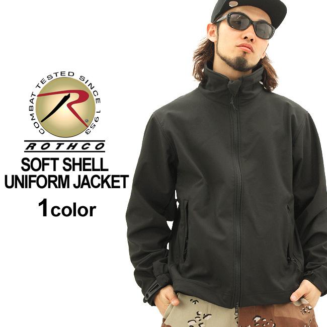 ロスコ ジャケット メンズ ソフトシェルジャケット 大きいサイズ 9834 USAモデル 米軍 ブランド ROTHCO 軽量 撥水 防寒 ミリタリー 無地