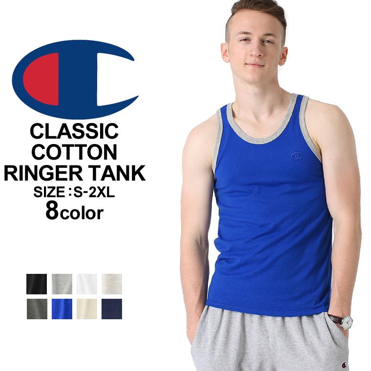 Champion Mens Classic Jersey Ringer Tank Top