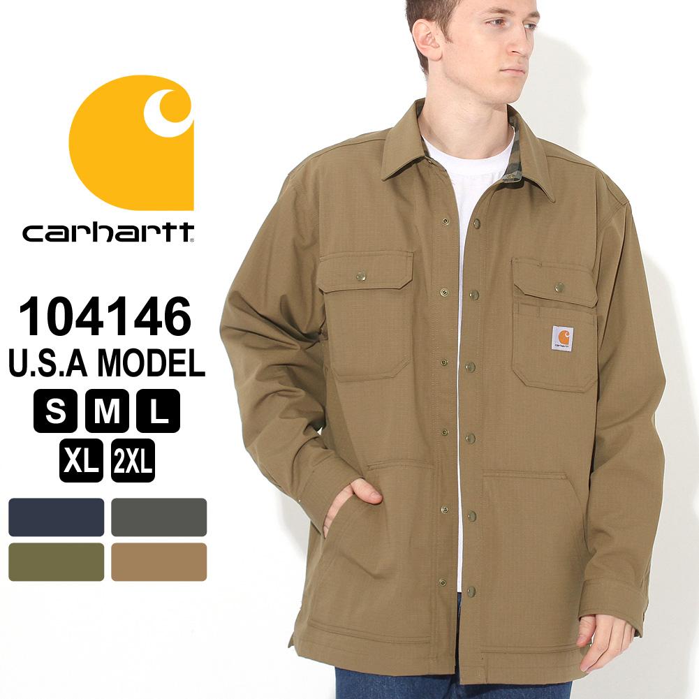 [10%OFFクーポン配布] カーハート シャツジャケット メンズ 大きいサイズ 104146 USAモデル│ブランド Carhartt カジュアルシャツ 長袖シャツ ジャケット 防寒