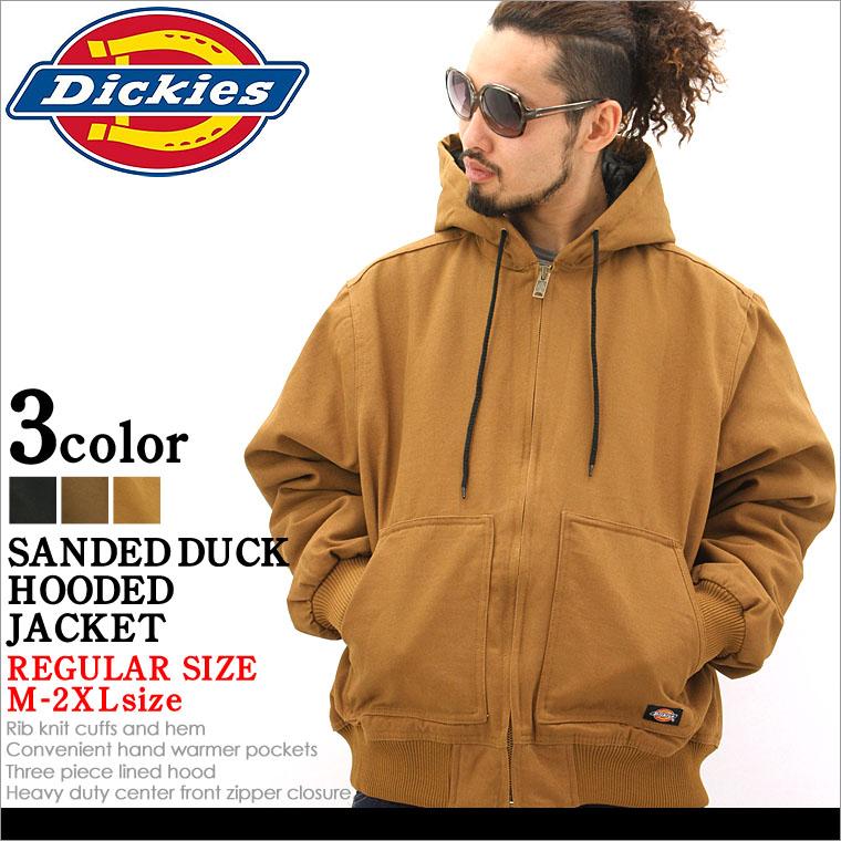 【送料299円】ディッキーズDickies SANDED DUCK HOODED JACKET ジャケット メンズ 秋冬 アウター ブルゾン 大きいサイズ ダック 黒 ブラック XL XXL LL 2L 3L 【平行輸入品】 【USAモデル】