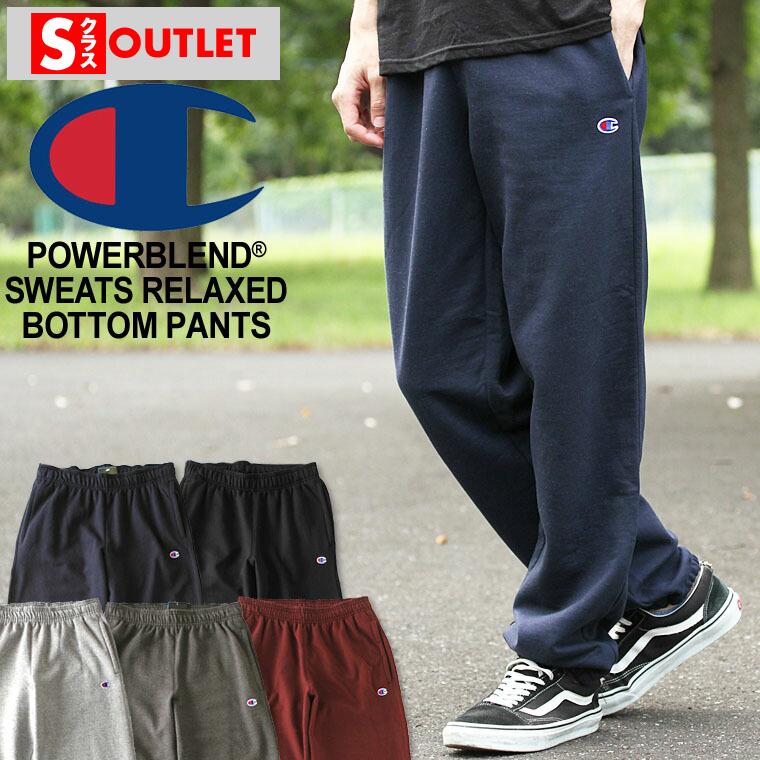 Champion Men/'s Powerblend® Fleece Relaxed Bottom Pants P0894