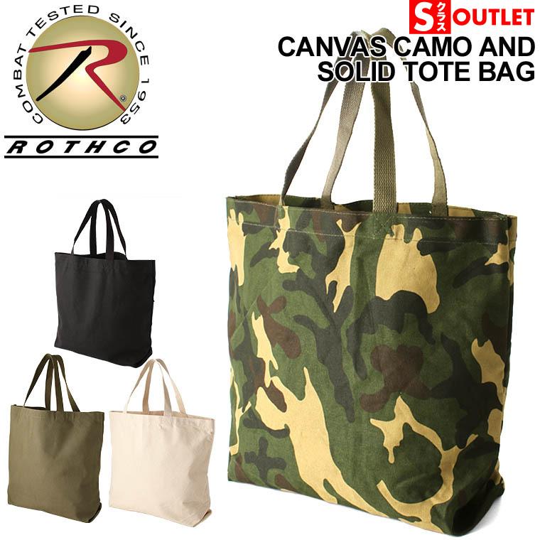 Black Rothco Canvas Camo And Solid Tote Bag