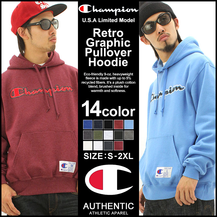 champion men's pullover retro graphic sweatshirt