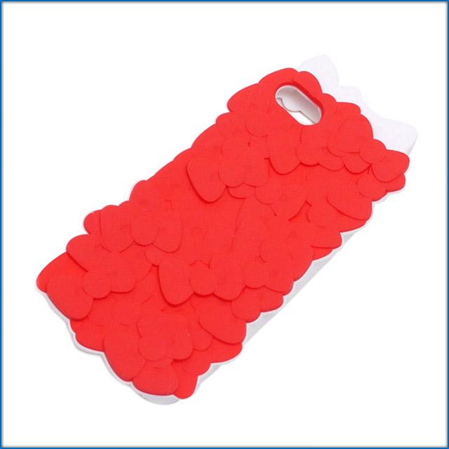 UNDERCOVER(下面覆盖物)x HELLO KITTY(Hello Kitty)iPhone 5/5S CASE REDxWHITE 473-000045-023