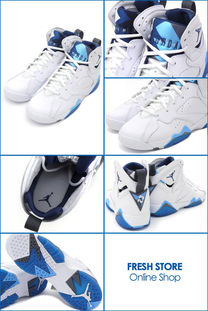 5e500eb0d8b984 ... best nike nike air jordan 7 retro gs sneakers white french blue flint  grey 304774 107