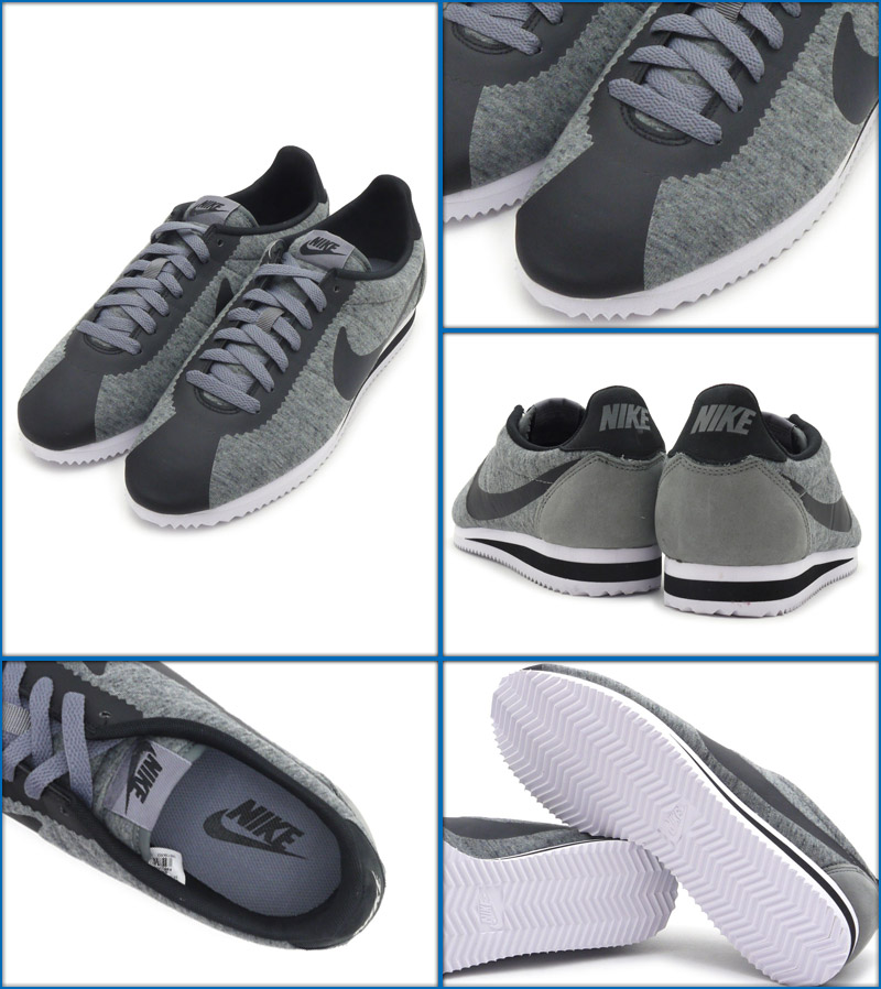 hot sales 3a7c7 72ce0 ... best price nike nike classic cortez tp tech pack cortez sneakers shoes  tumbled grey black white