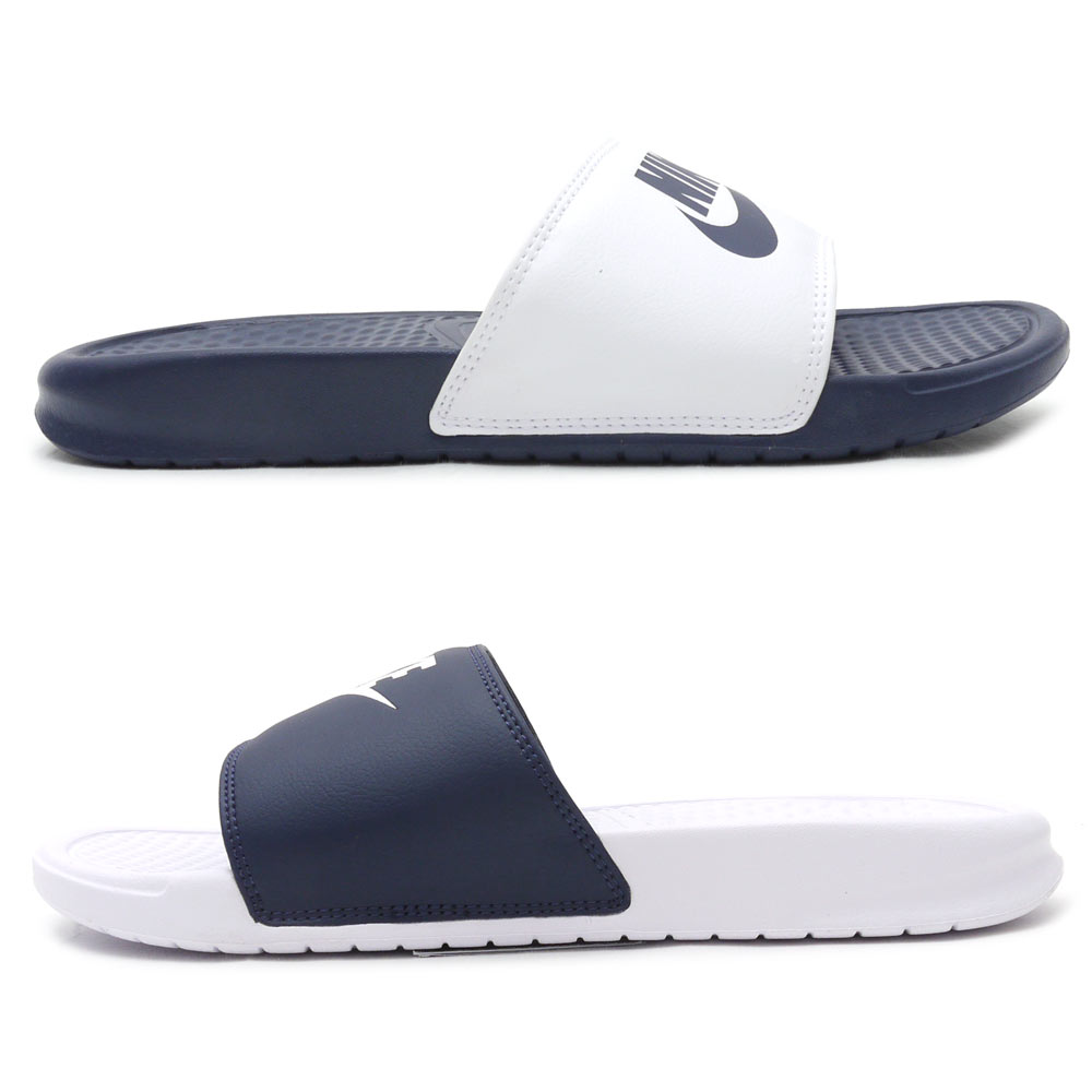 NIKE(耐克)BENASSI JDI MISMATCH benasshimisumatchi(凉鞋)(鞋)MIDNIGHT NAVY/WHITE 818736-410 292-000179-267+