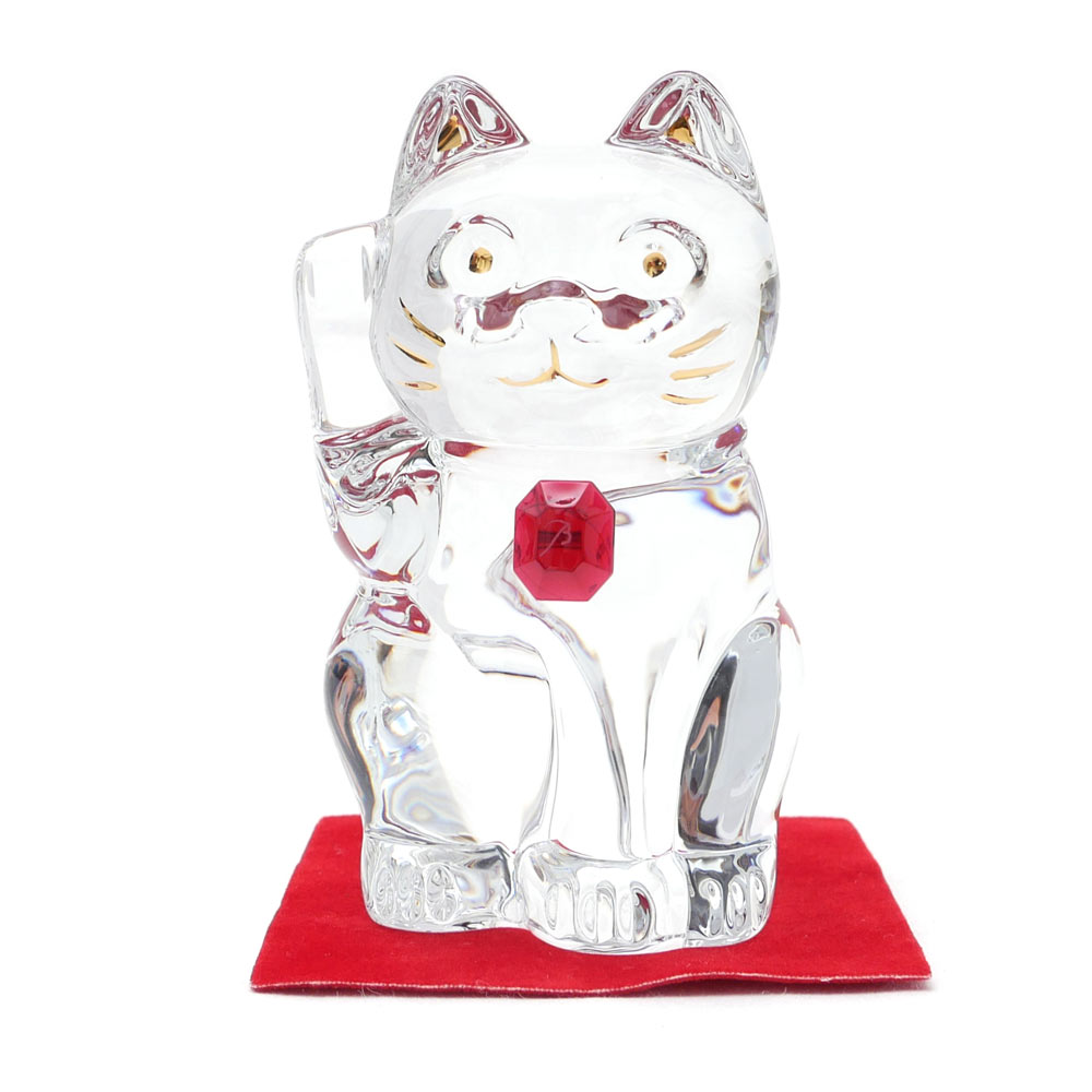 Baccarat(バカラ) CRYSTAL 招き猫 CLEARxRED 290-004016-010x【新品】
