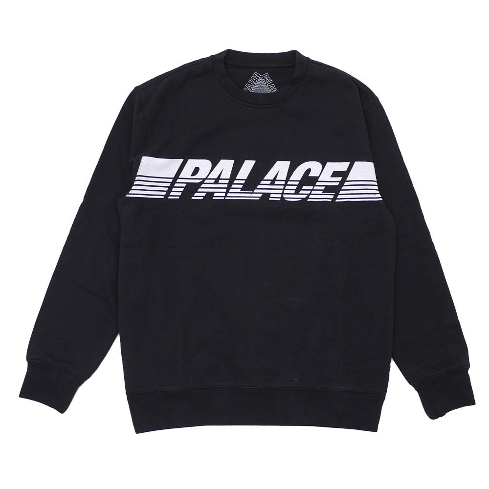 Palace Skateboards パレス スケートボード LINE CREW SWEAT スウェット BLACK 420000077041 【新品】