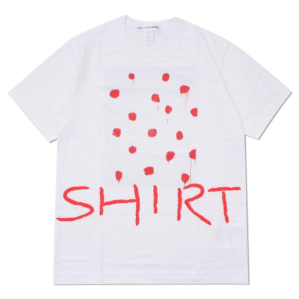 COMME des GARCONS SHIRT コムデギャルソン シャツ 激安セール RED WHITE Tシャツ TEE 200007769040 DOT メーカー直売 新品 BOX