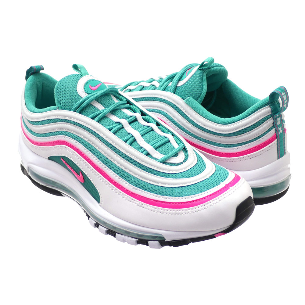 cc2e92463a ... sale nike nike air max 97 air max 97 white pink blast kinetic green  921826 102