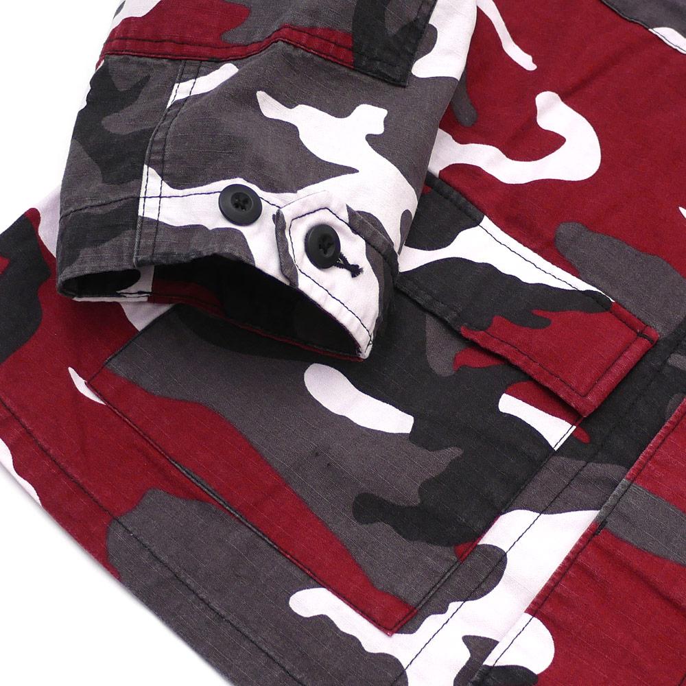 ?????? SUPREME BDU Shirt long sleeves shirt shirt jacket RED CAMO 216001550143