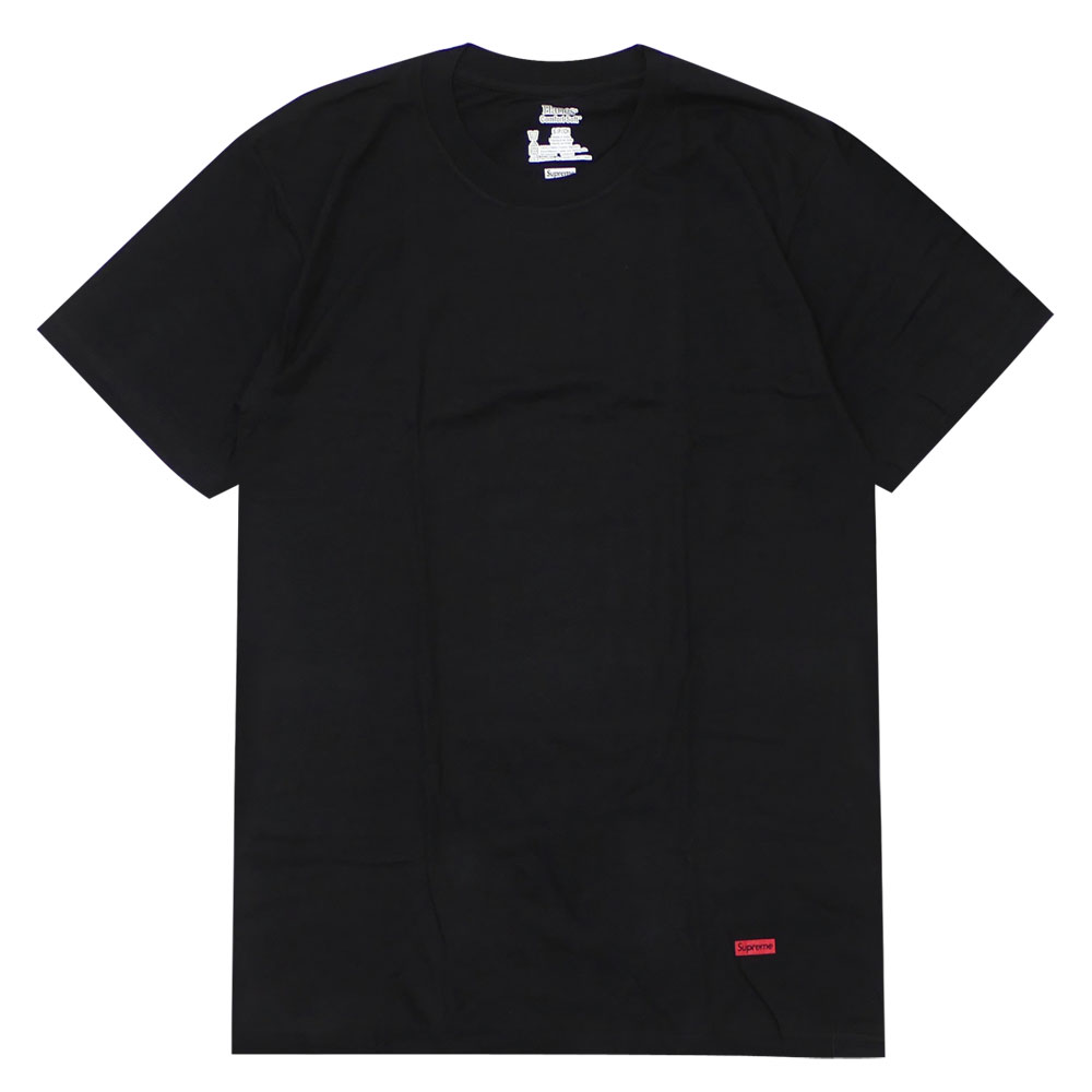 outlet store for whole family luxury fashion シュプリーム SUPREME x Hanes Hanes Tagless Tee T-shirt BLACK 200005622931