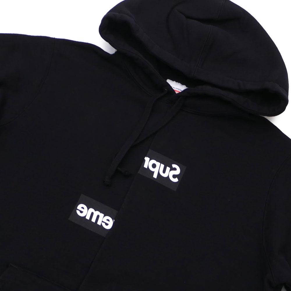 06a0a5d2cda3 シュプリーム SUPREME x COMME des GARCONS SHIRT コムデギャルソンシャツ Split Box Logo Hooded  ...