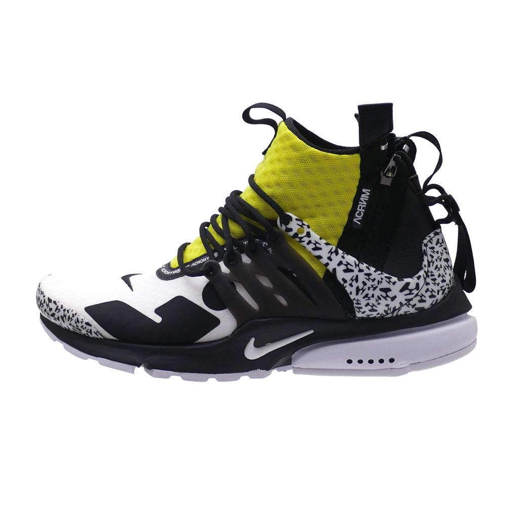 new product 900c8 24286 NIKE (Nike) x ACRONYM (アクロニウム) AIR PRESTO MID ACRONYM (air presto)  WHITE BLACK-DYNAMIC YELLOW AH7832-100 291-002483-280+