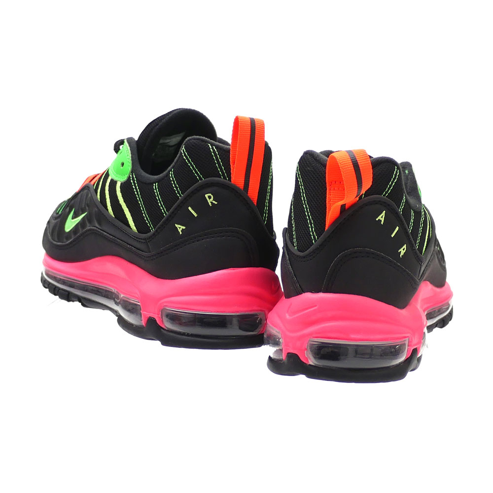 more photos b2788 890c5 Nike NIKE AIR MAX 98 NEON Air Max 98 neon BLACK GREEN STRIKE-RACER PINK men  CI2291-083 291002550