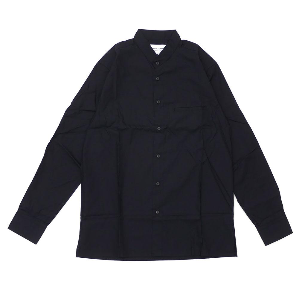 ビアンカシャンドン Bianca Chandon LONG SLEEVE BUTTON UP SHIRT 長袖シャツ BLACK ブラック 黒 メンズ 【新品】 420000264