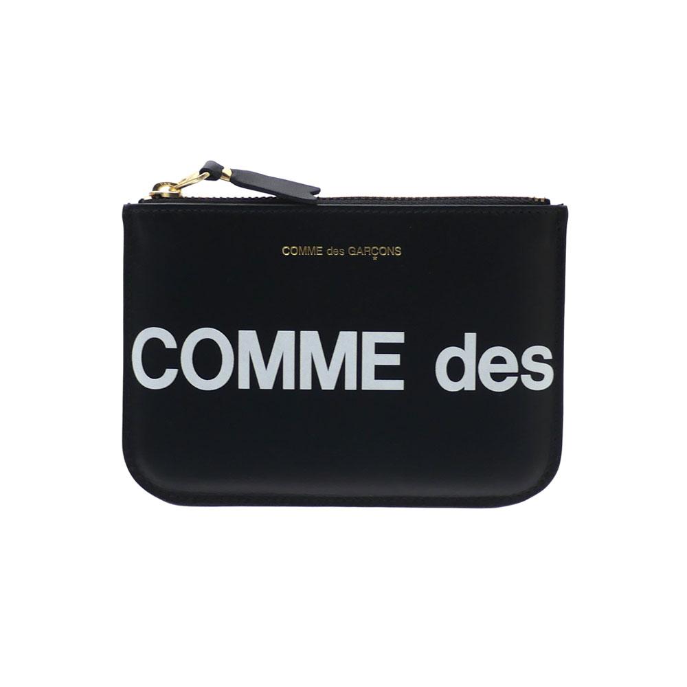 新品 コムデギャルソン COMME des GARCONS Huge Logo Wallet 財布 BLACK ブラック 黒 メンズ レディース 新作 271000396
