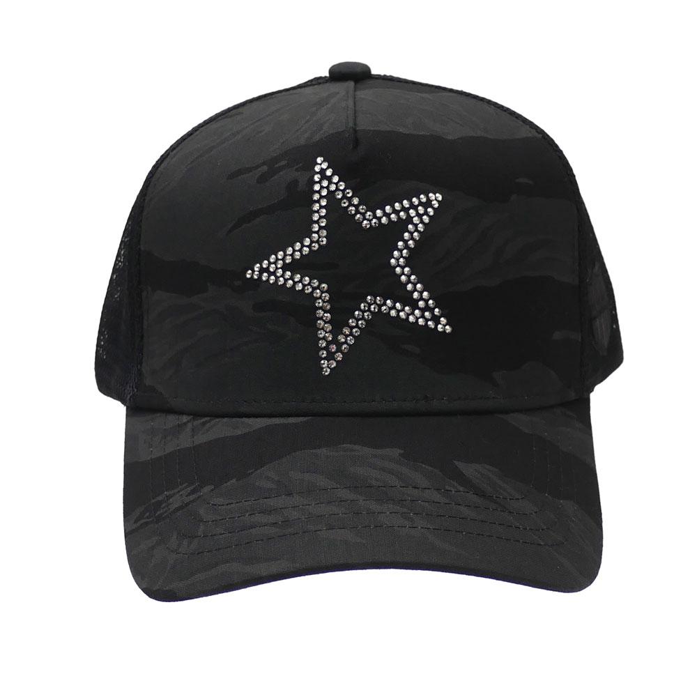 [YOSHINORI KOTAKE][ヨシノリコタケ][444][メッシュキャップ][MESHCAP][スパンコール][ビーズ] 新品 ヨシノリコタケ YOSHINORI KOTAKE x バーニーズ ニューヨーク BARNEYS NEWYORK TIGER CAMO STAR MESH CAP キャップ BLACK ブラック 黒 メンズ 新作
