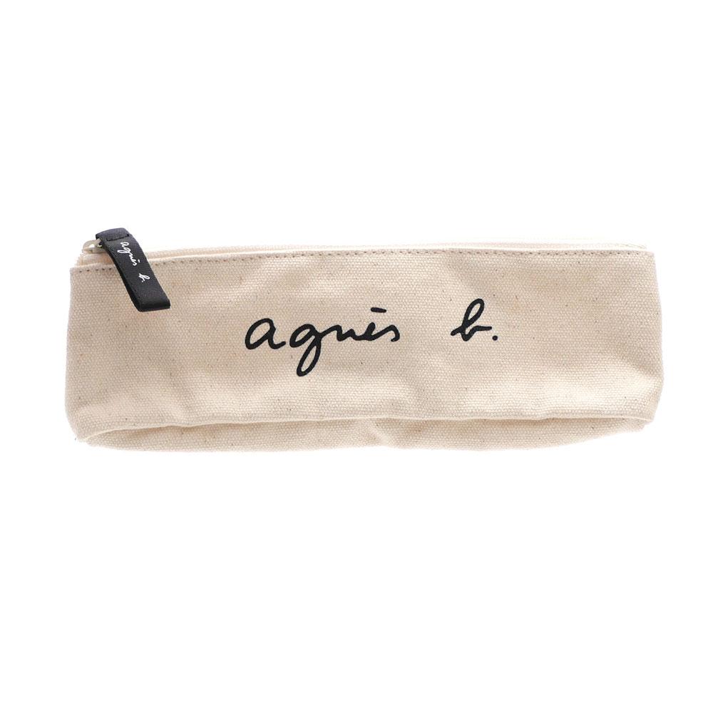 新品 アニエスベー ボヤージュ agnes b. VOYAGE ロゴ レディース お買得 IVORY アイボリー 高い素材 ポーチ 新作 メンズ